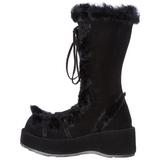 Black 7 cm CUBBY-311 lolita knee boots goth platform boots