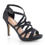 Black 9,5 cm DAPHNE-42 High Heeled Stiletto Sandals