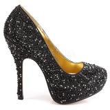 Black Glittering Stones 13,5 cm FELICITY-20 Womens High Heels Shoes