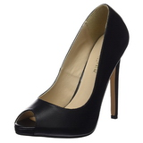 Black Leather 13 cm SEXY-42 Low Heeled Classic Pumps Shoes