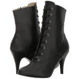 Black Leatherette 10 cm DREAM-1020 big size ankle boots womens