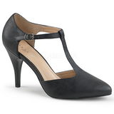 Black Leatherette 10 cm DREAM-425 big size pumps shoes