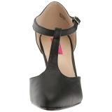 Black Leatherette 10 cm DREAM-425 big size pumps shoes