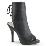 Black Leatherette 12,5 cm EVE-102 big size ankle boots womens