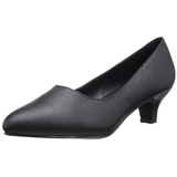 Black Leatherette 5 cm FAB-420W High Heel Pumps for Men