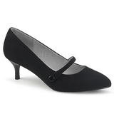 Black Leatherette 6,5 cm KITTEN-03 big size pumps shoes