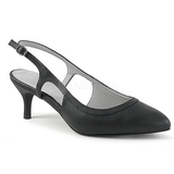 Black Leatherette 6 cm KITTEN-02 big size pumps shoes