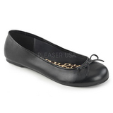 Black Leatherette ANNA-01 big size ballerinas shoes