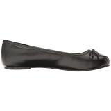 Black Leatherette ANNA-01 big size ballerinas shoes