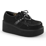Black Leatherette CREEPER-206 Platform Women Creepers Shoes