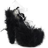 Black Marabou Feathers 18 cm ADORE-708F Pole dancing high heels