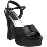 Black Matt 13 cm DEMONIA DOLLY-09 High Heels Platform
