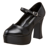 Black Matte 11 cm MARYJANE-50 Mary Jane Platform Pumps