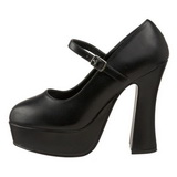 Black Matte 13 cm DOLLY-50 Mary Jane Platform Pumps