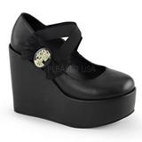 Black Matte 13 cm POISON-02 Platform Wedge Pumps Shoes