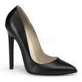 Black Matte 13 cm SEXY-20 Women Pumps Shoes Flat Heels