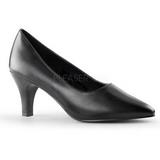 Black Matte 8 cm DIVINE-420W Women Pumps Shoes Flat Heels