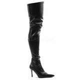 Black Matte 9,5 cm LUST-3000 Overknee Boots Flat Heels