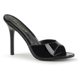 Black Patent 10 cm CLASSIQUE-01 big size mules shoes