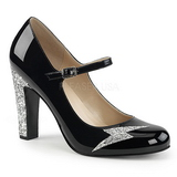 Black Patent 10 cm QUEEN-02 big size pumps shoes