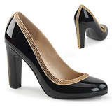 Black Patent 10 cm QUEEN-04 big size pumps shoes