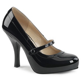 Black Patent 11,5 cm PINUP-01 big size pumps shoes