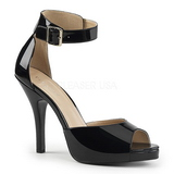 Black Patent 12,5 cm EVE-02 big size sandals womens