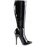 Black Patent 15 cm DOMINA-2000 High Heels Women Boots