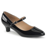 Black Patent 5 cm FAB-425 big size pumps shoes