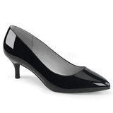 Black Patent 6,5 cm KITTEN-01 big size pumps shoes