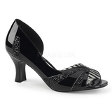 Black Patent 7,5 cm JENNA-03 big size pumps shoes