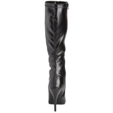 Black Pu 13 cm Pleaser SEDUCE-2000 Women Knee Boots