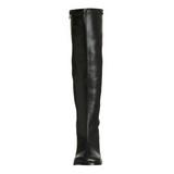Black Pu 7,5 cm Funtasma GOGO-300 Women Knee Boots