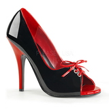 Black Red 12,5 cm SEDUCE-216 Womens Shoes with High Heels