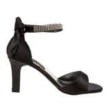 Black Rhinestone 8,5 cm ROMANCE-372 Womens High Heel Sandals
