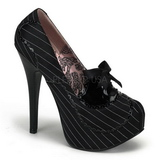 Black Satin 14,5 cm Burlesque BORDELLO TEEZE-01 Platform Pumps