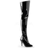 Black Shiny 10,5 cm VANITY-3010 Thigh High Boots for Men