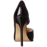 Black Shiny 13 cm AMUSE-22 Low Heeled Classic Pumps Shoes