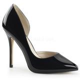 Black Shiny 13 cm AMUSE-22 Pumps High Heels for Men