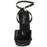 Black Shiny 13 cm Fabulicious LIP-125 High Heels Platform