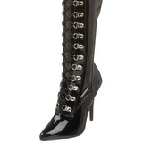 Black Shiny 13 cm SEDUCE-3024 High Heeled Overknee Boots