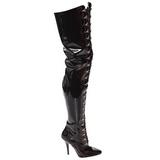 Black Shiny 13 cm SEDUCE-4026 Thigh High Boots for Men