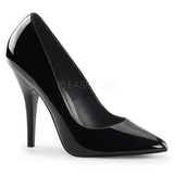 Black Shiny 13 cm SEDUCE-420 Pumps High Heels for Men