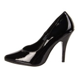 Black Shiny 13 cm SEDUCE-420V Pumps High Heels for Men
