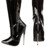 Black Shiny 15,5 cm SCREAM-3010 High Heeled Overknee Boots