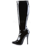 Black Shiny 15 cm DOMINA-2000 High Heeled Womens Boots for Men