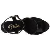 Black Shiny 23 cm INFINITY-909 High Heels Platform