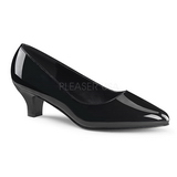 Black Shiny 5 cm FAB-420W High Heel Pumps for Men