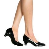 Black Shiny 5 cm FAB-420W High Heel Pumps for Men