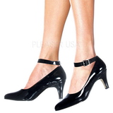 Black Shiny 8 cm DIVINE-431W High Heel Pumps for Men